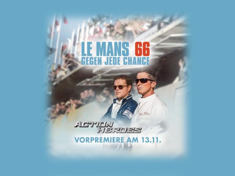 "Action Heroes Blockbuster Preview: ""Le Mans 66 – Gegen Jede Chance"""