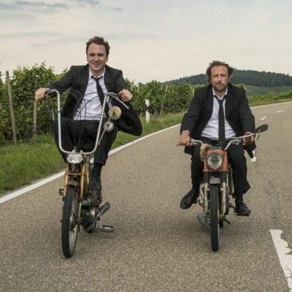 """Starbesuch: Bjarne Mädel, Oliver Ziegenbalg und Markus Goller mit """"25 km/h""""!"""
