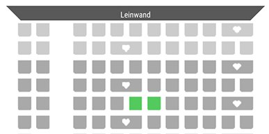 2. Sitzplätze  wählen Bild 1